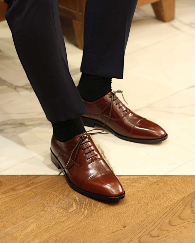 HOAX Northern Sole Captoe Oxford・Brown