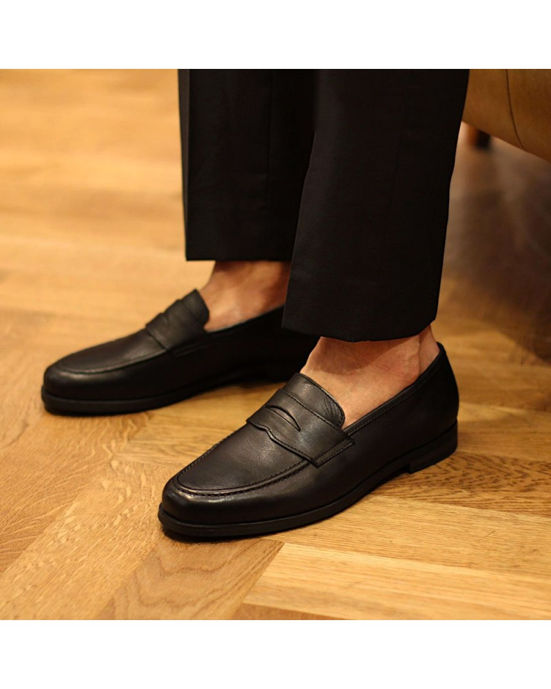 RAD by RAUDi Penny Loafers · Black