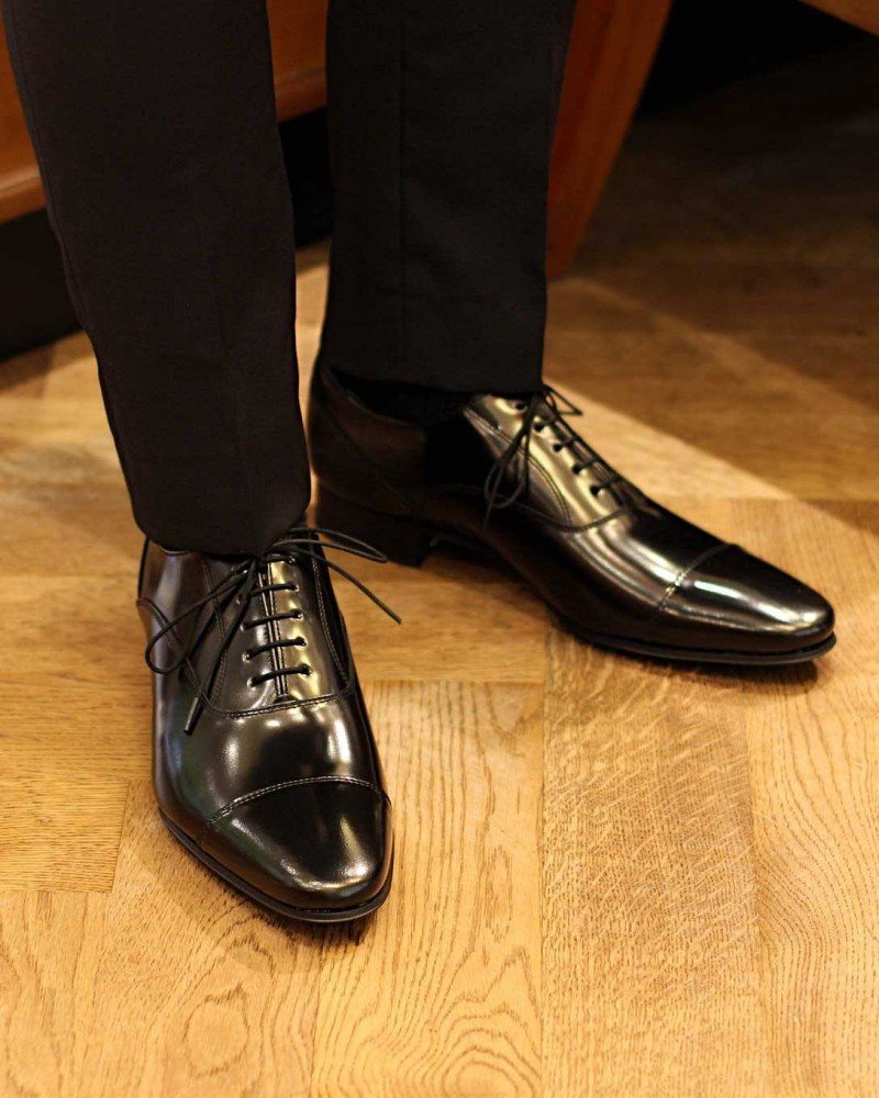 REGAL|31TR Captoe Oxford・Black|Scratch Tough Leather