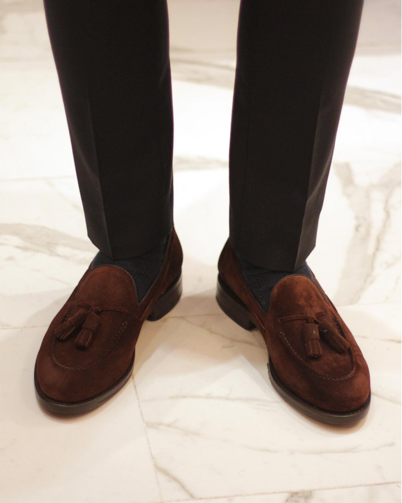 Berwick1707 for HOAX|4171 Tassel Loafers・Snuff Suede