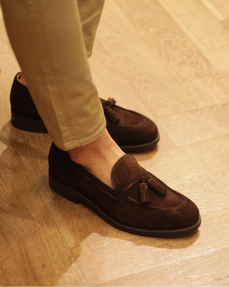 Berwick1707 for HOAX 4171 Tassel Loafers・Snuff Suede