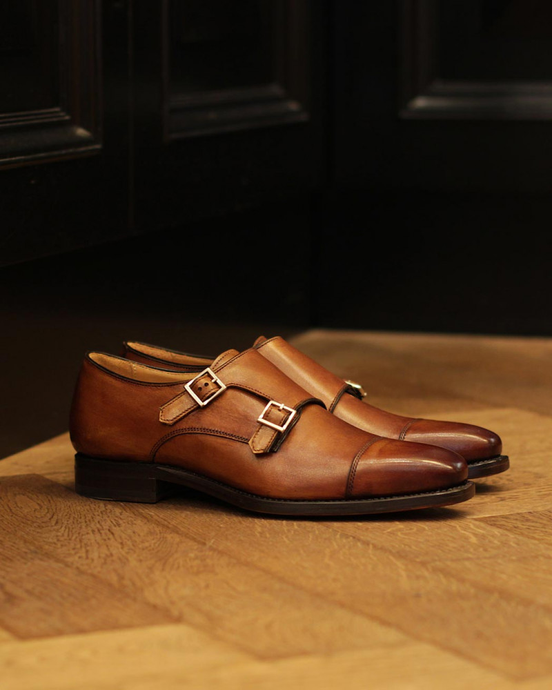 Berwick1707 for HOAX|4474 Double Monk Strap・Tan