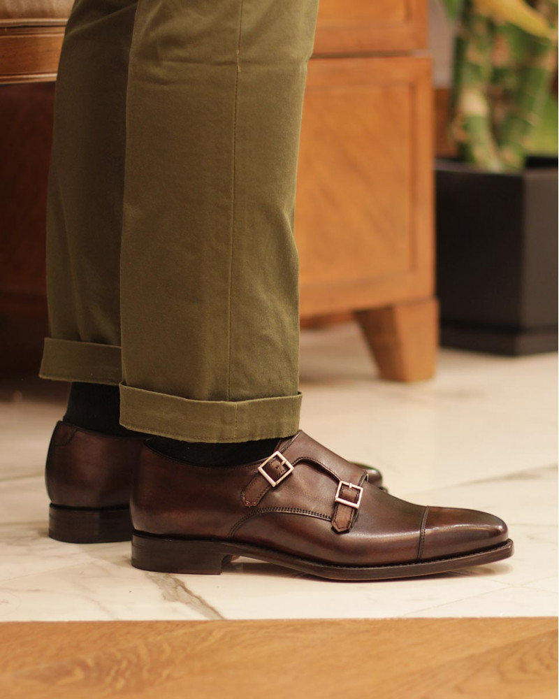 Berwick1707 for HOAX|4474 Double Monk Strap・Dark Brown
