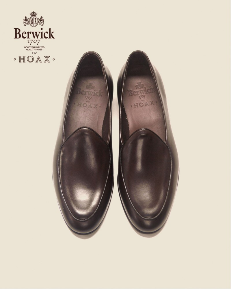 Berwick1707 for HOAX|4950 Belgian Plain Loafer・Moka