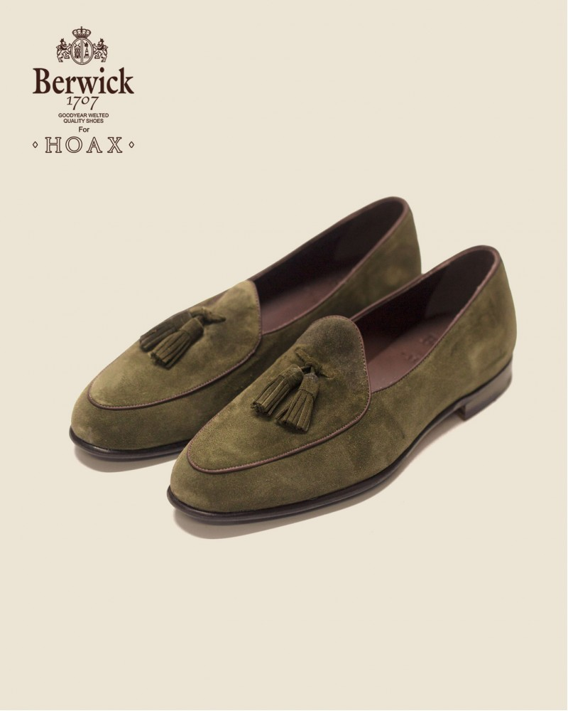Berwick1707 for HOAX|4951 Belgian Loafers・Giungla Suede