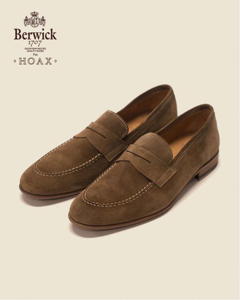 Berwick1707 for HOAX 5062 Lightweight Penny Loafers・Noce Suede