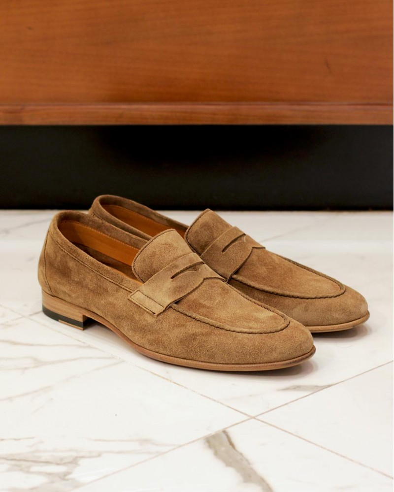 Berwick1707 for HOAX 5062 Unlined Loafers・Noce Suede