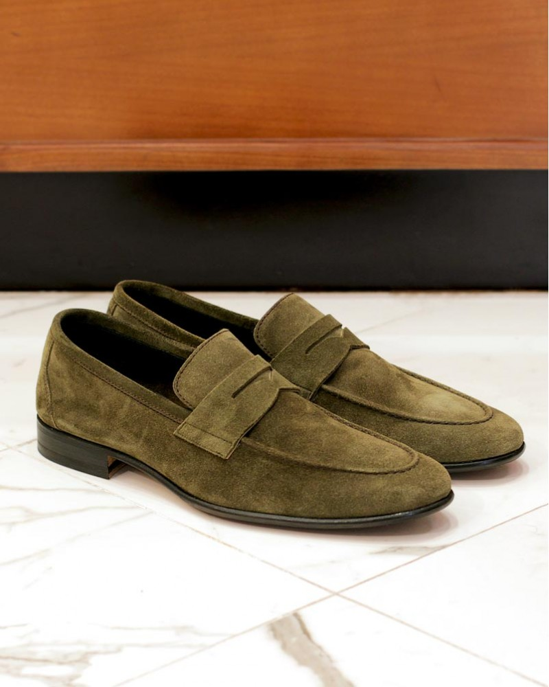 Berwick1707 for HOAX 5062 Unlined Loafers・Giungla Suede