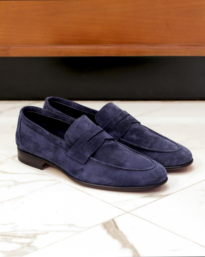 Berwick1707 for HOAX 5062 Unlined Loafers・Bluette Suede