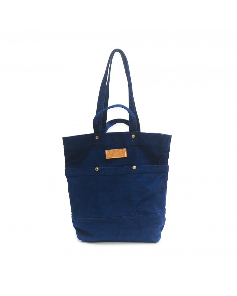 Reactive Dyed Garden Tote - Blue
