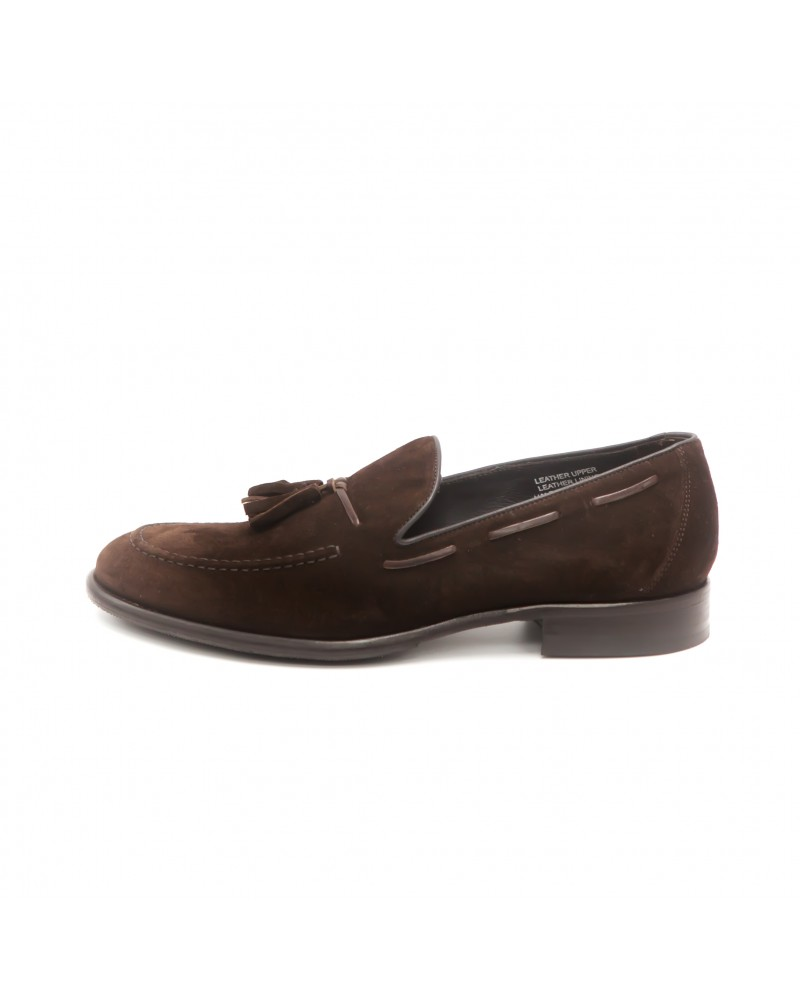 Calzoleria Toscana Tassel Loafer · Dark Brown suede