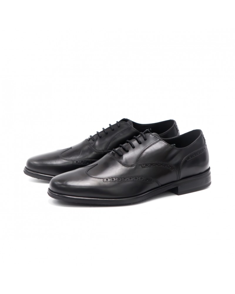 Calzoleria Toscana A678 Wing Toe Oxford · Black