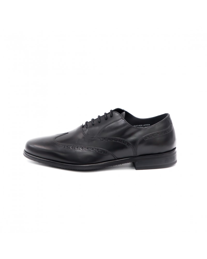 Calzoleria Toscana|A678 Wing Toe Oxford · Black
