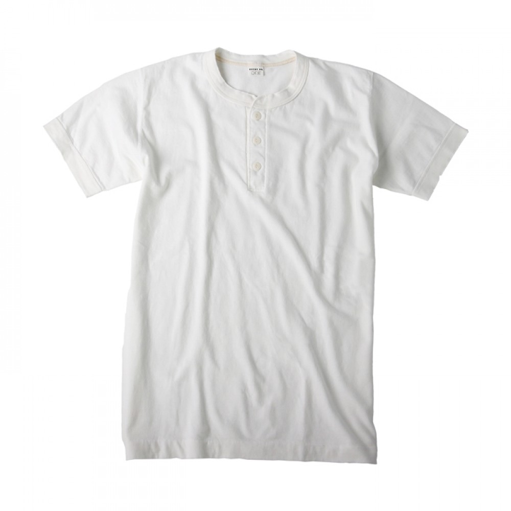 Entry SG Henley-Neck Tee - Pure White