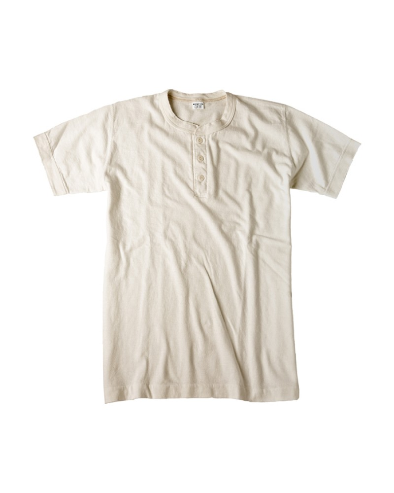 Entry SG Henley-Neck Tee - White