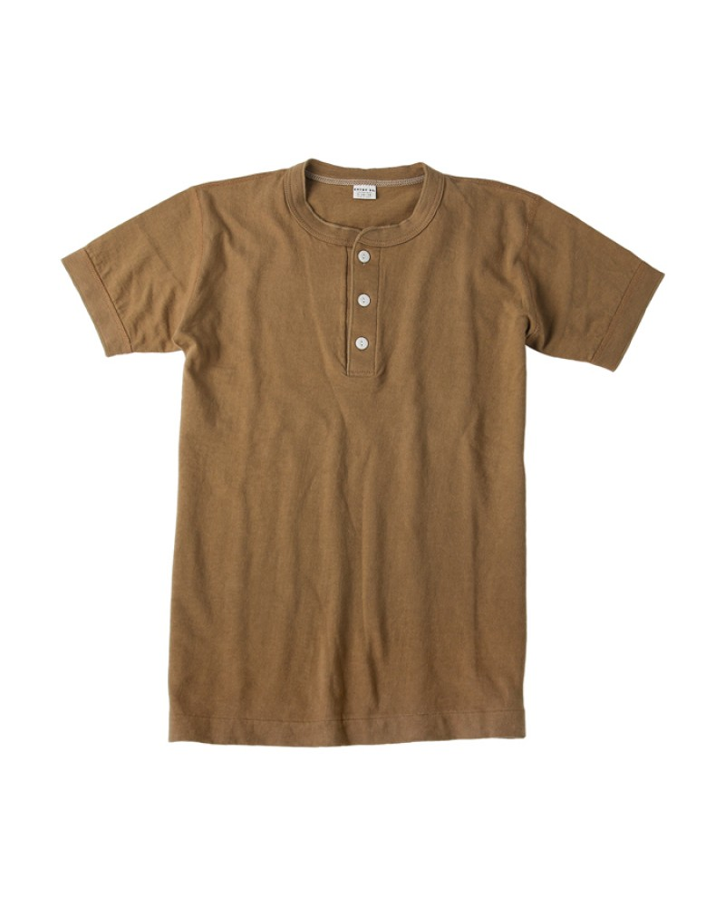 ENTRY SG|Sonora Henley Neck Tee・Bronze