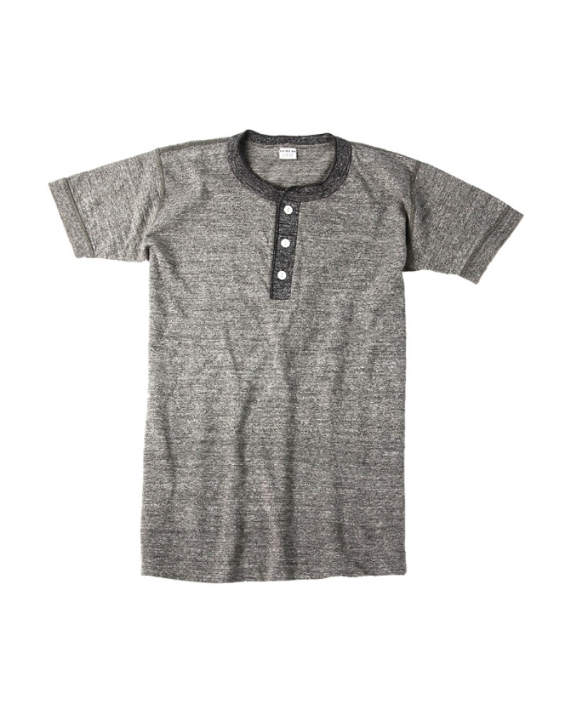 Entry SG Henley-Neck Tee - Two Tone