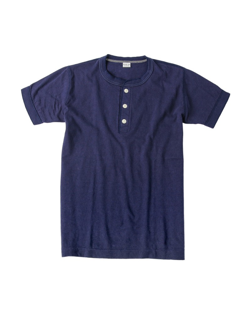 Entry SG Henley-Neck Tee - Navy