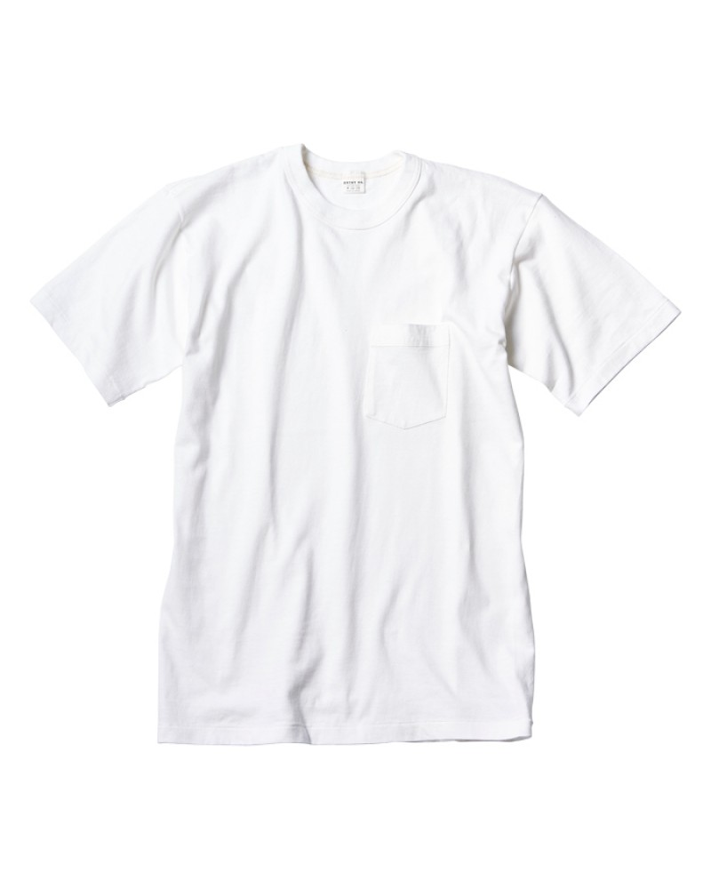 ENTRY SG Pocket Tee - Pure White