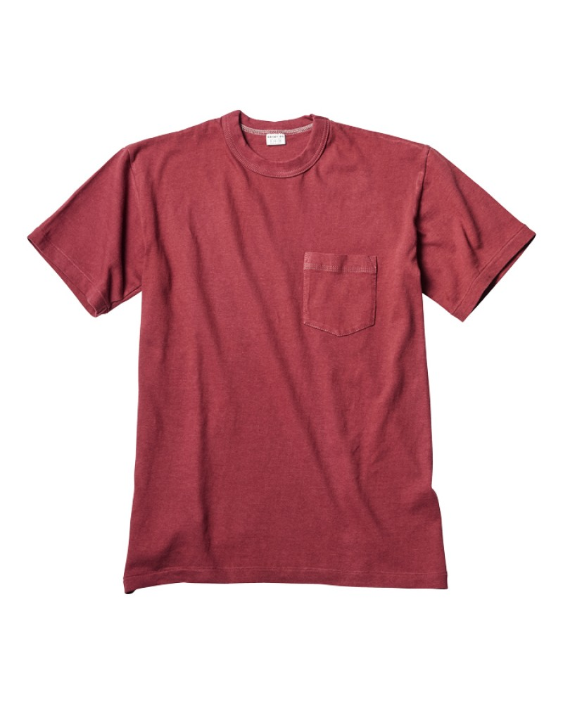 ENTRY SG Pocket Tee - Crimson