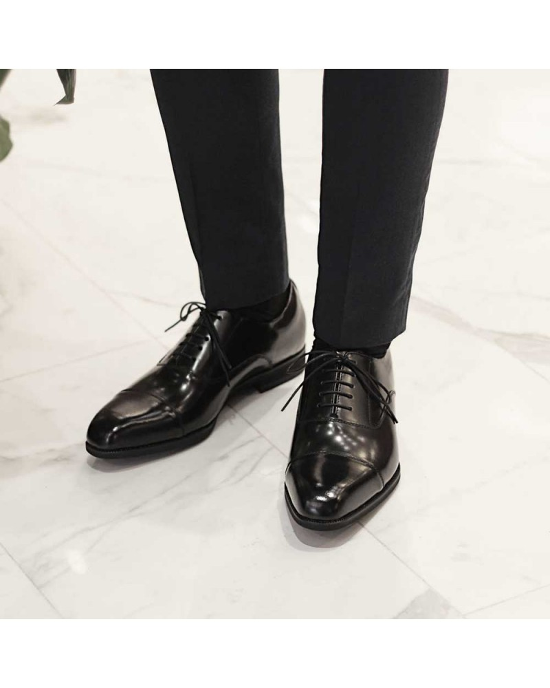 Kenford Captoe Oxford · Black