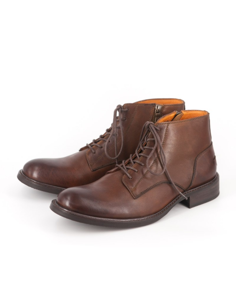 RAD By RAUDI Plain Toe Boots - Brown