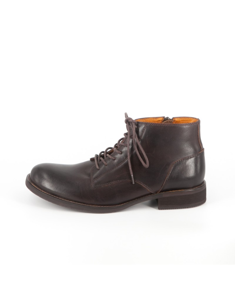 RAD By RAUDI Plain Toe Boots - Dark Brown