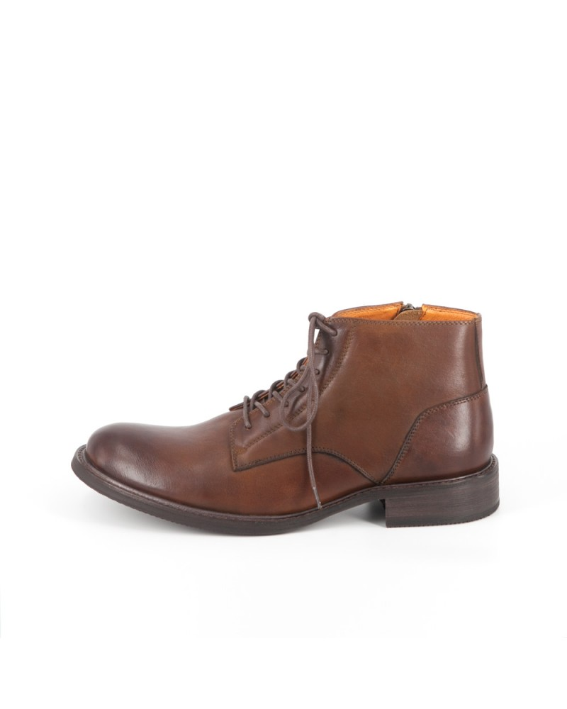 RAD by RAUDi|71219 Plain Toe Boots・Brown
