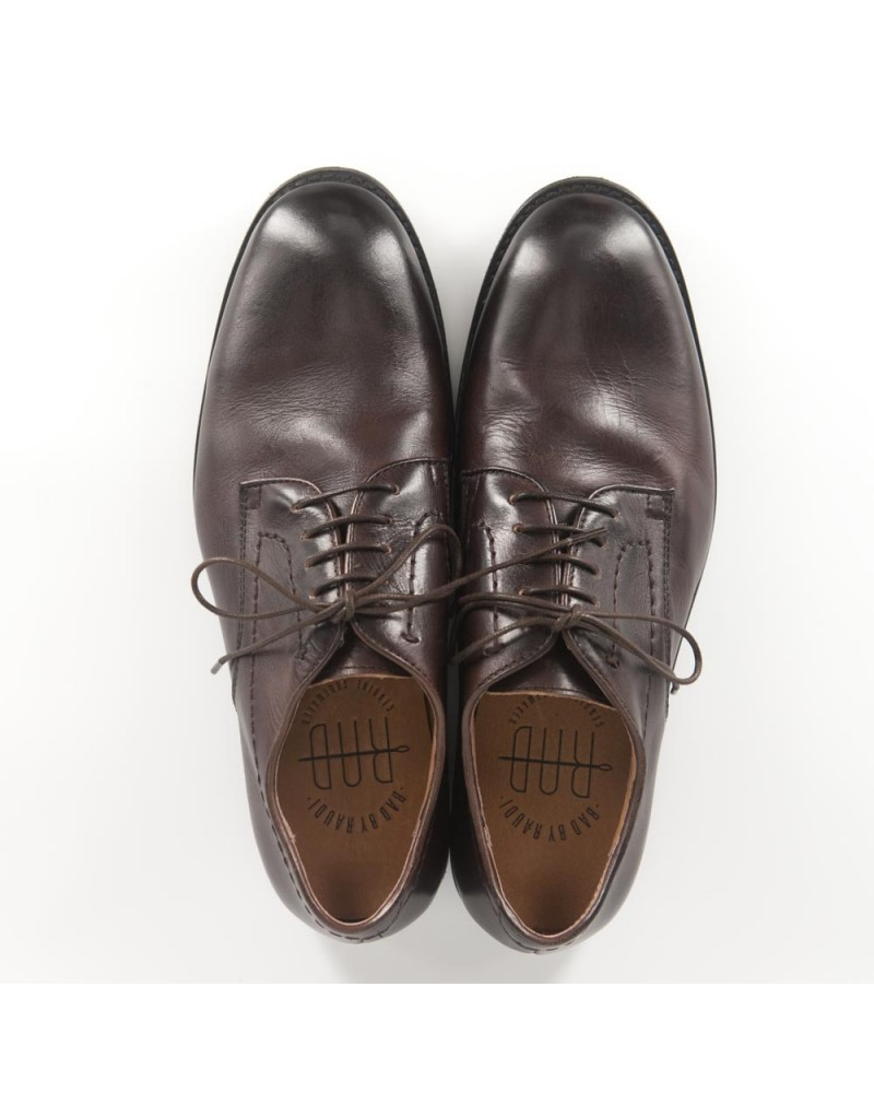 RAD by RAUDi Washed Derby Shoes - Dark Brown
