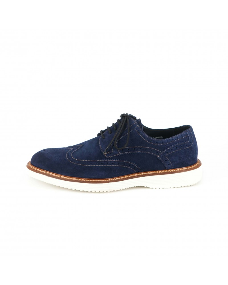 Calzoleria Toscana Suede Wingtip Shoes - Disk Blue