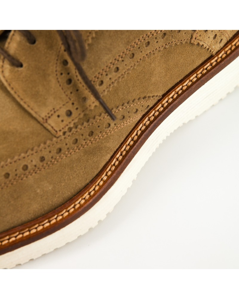 Calzoleria Toscana Suede Wingtip Shoes - Rope