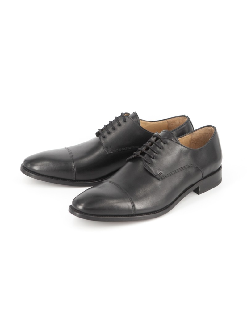 HOAX Made in Italy Captoe Derby - Black
