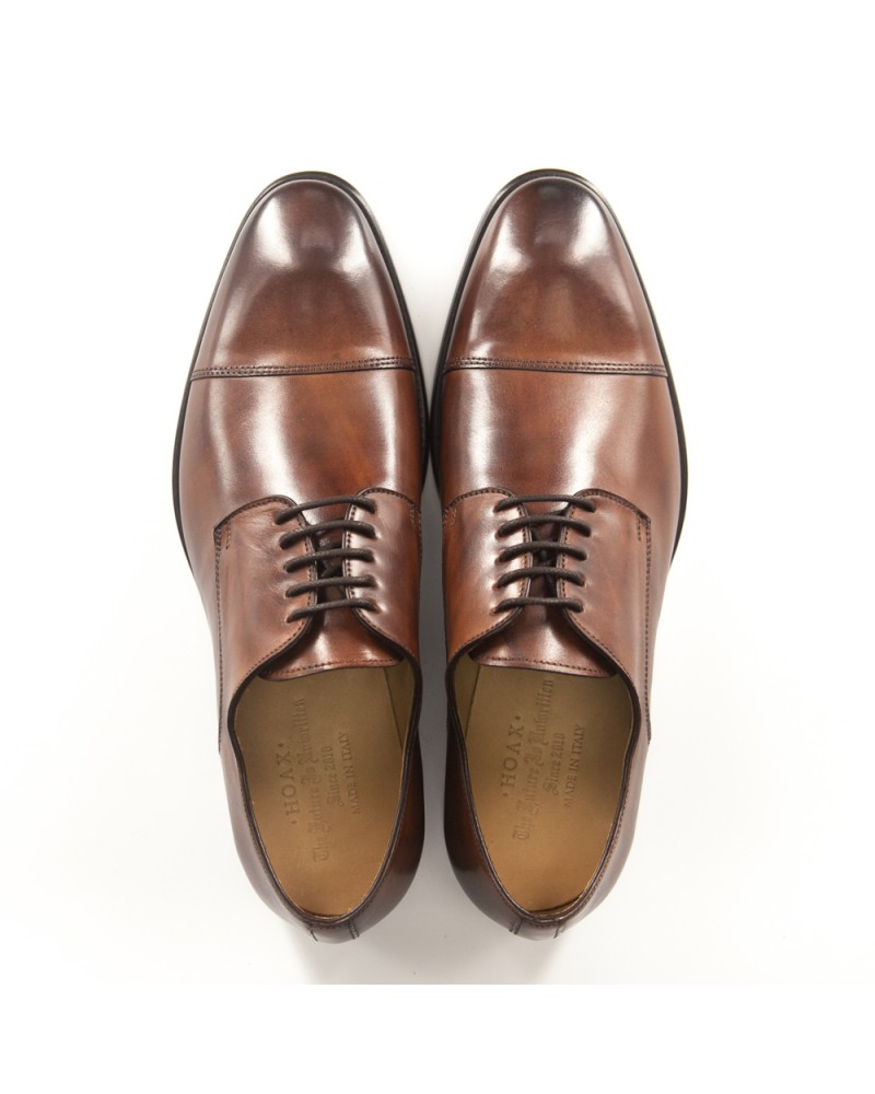 HOAX Made in Italy Captoe Derby - Brandy