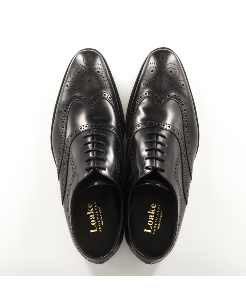 Loake|Jones Wingtips Oxfords・Black