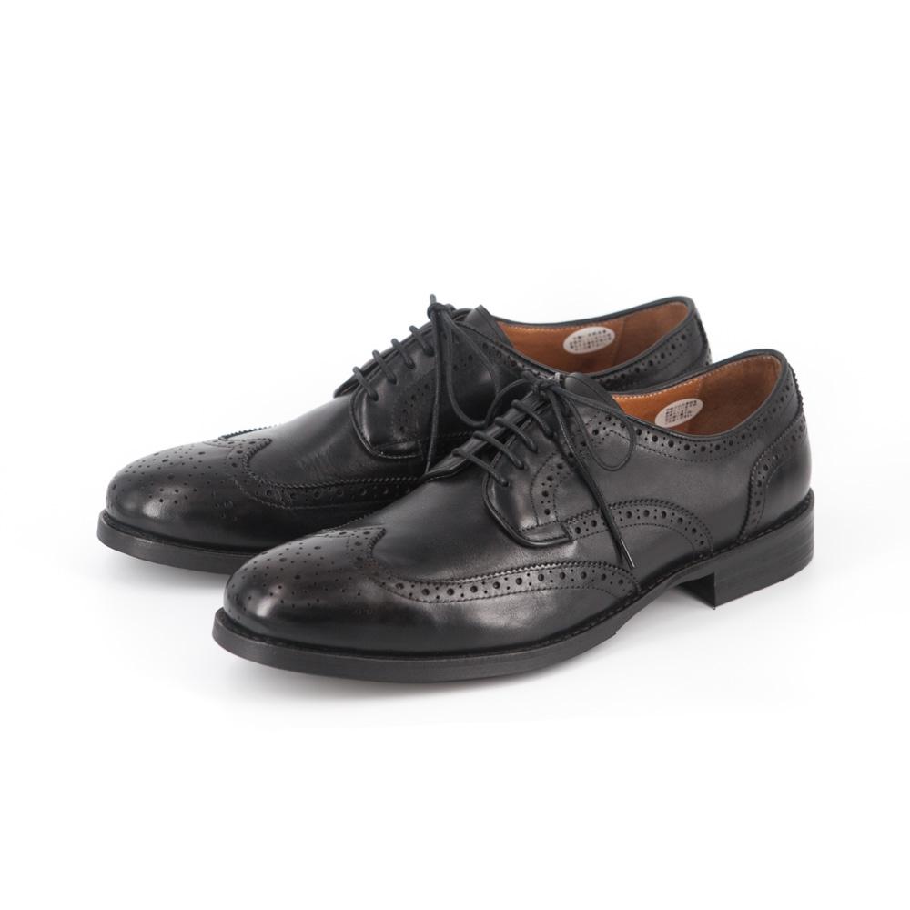 RAD by RAUDi Wingtip Derby Shoes - Black