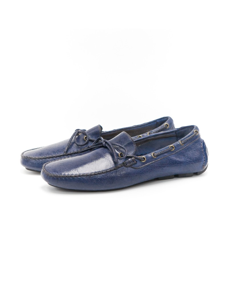 Calzoleria Toscana Dip Dyed Driving Shoes - Blue