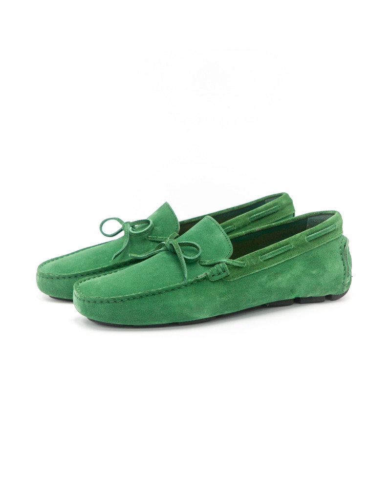 Calzoleria Toscana Driving Shoes - Green (Suede)