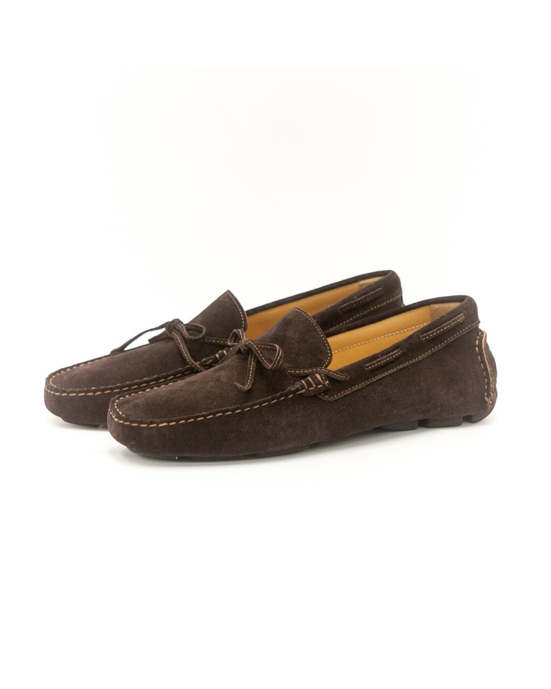 Calzoleria Toscana Driving Shoes - Chocolate (Suede)