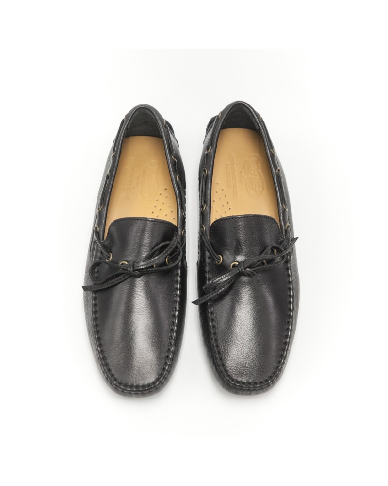 Calzoleria Toscana Dip Dyed Driving Shoes - Black