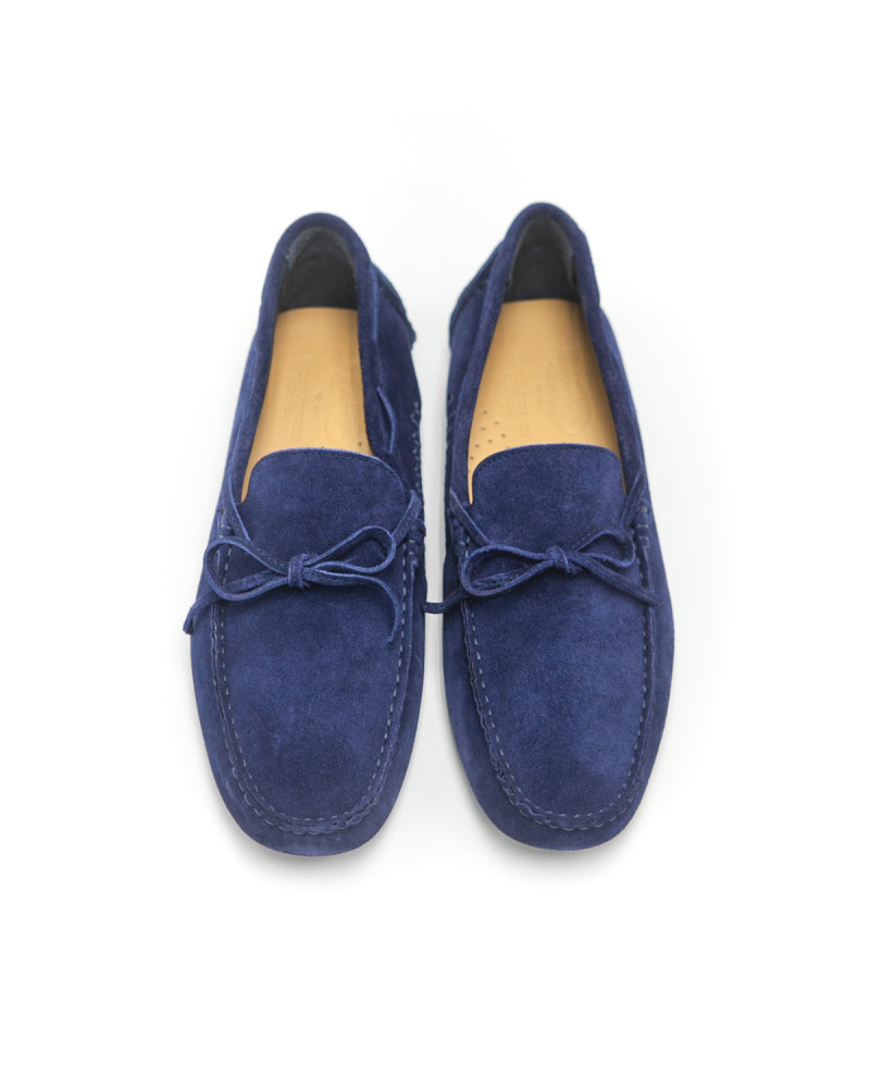 Calzoleria Toscana|3244 Suede Driving Shoes・Blue