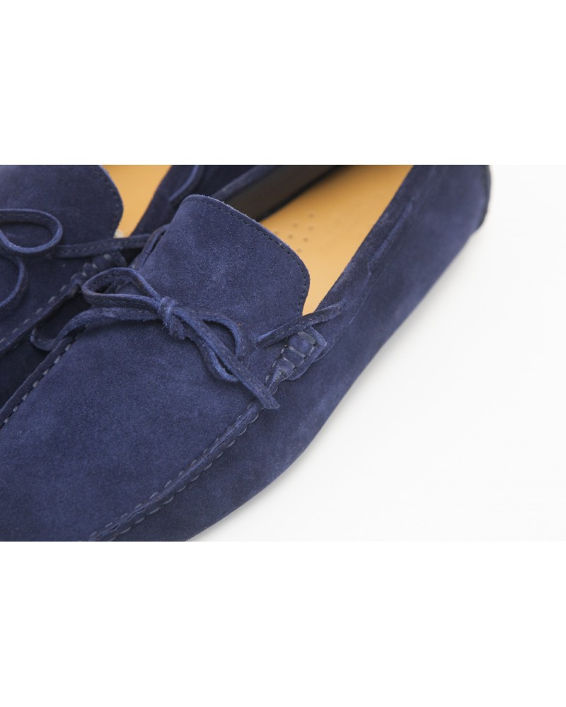 Calzoleria Toscana Driving Shoes - Blue (Suede)