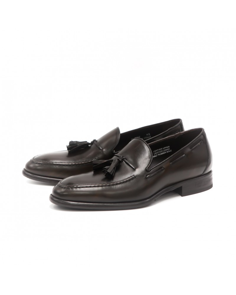 Calzoleria Toscana|H626 Tassel Loafer · Dark Brown Patina