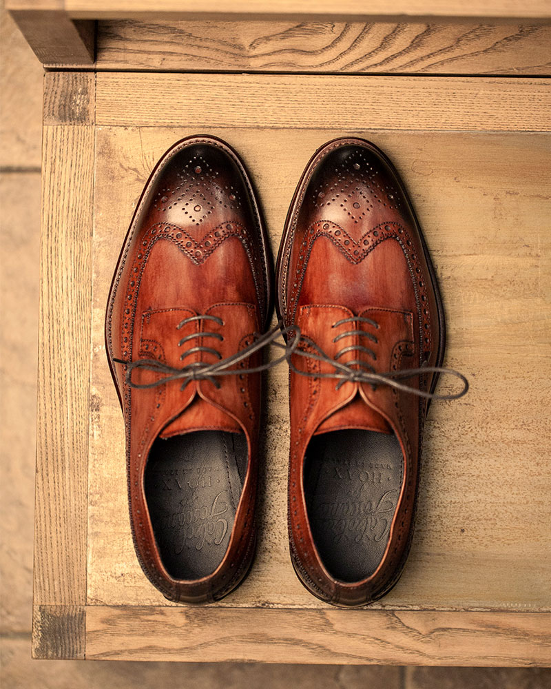 Calzoleria Toscana|Q528 Longwing Brogues・Patina Wood