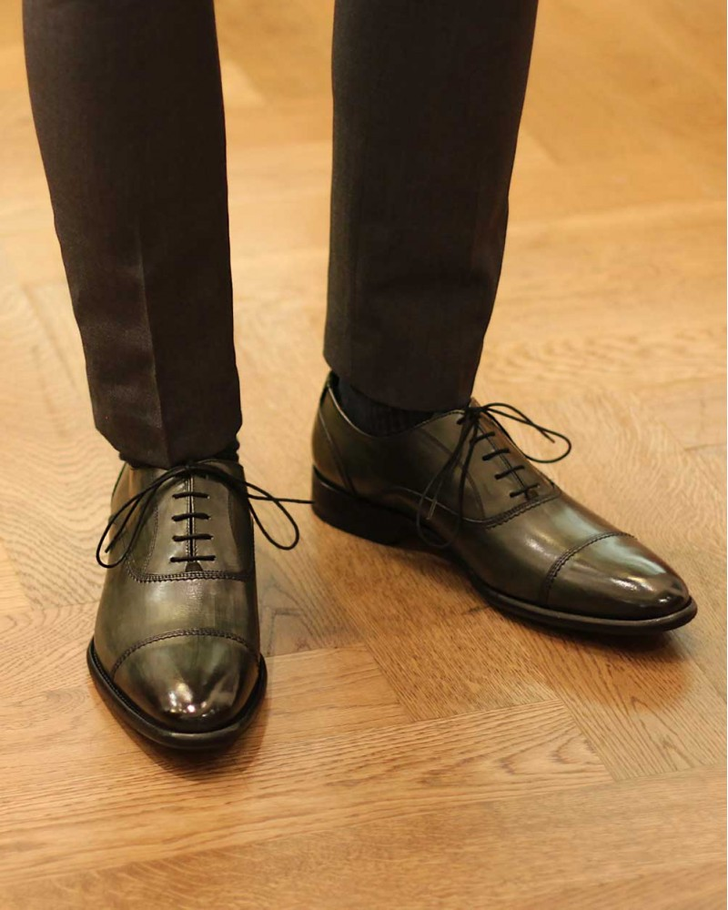 Calzoleria Toscana|2385 Patina Captoe Oxford・Emerald