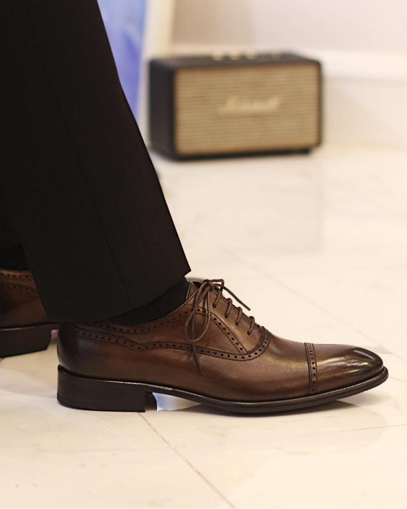 Calzoleria Toscana|2392 Captoe Oxford・Dark Brown