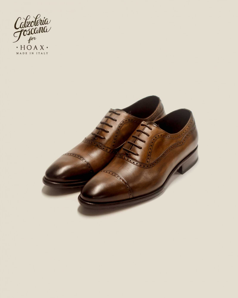 Calzoleria Toscana|2392 Patina Quarter Brogue・Dark Brown
