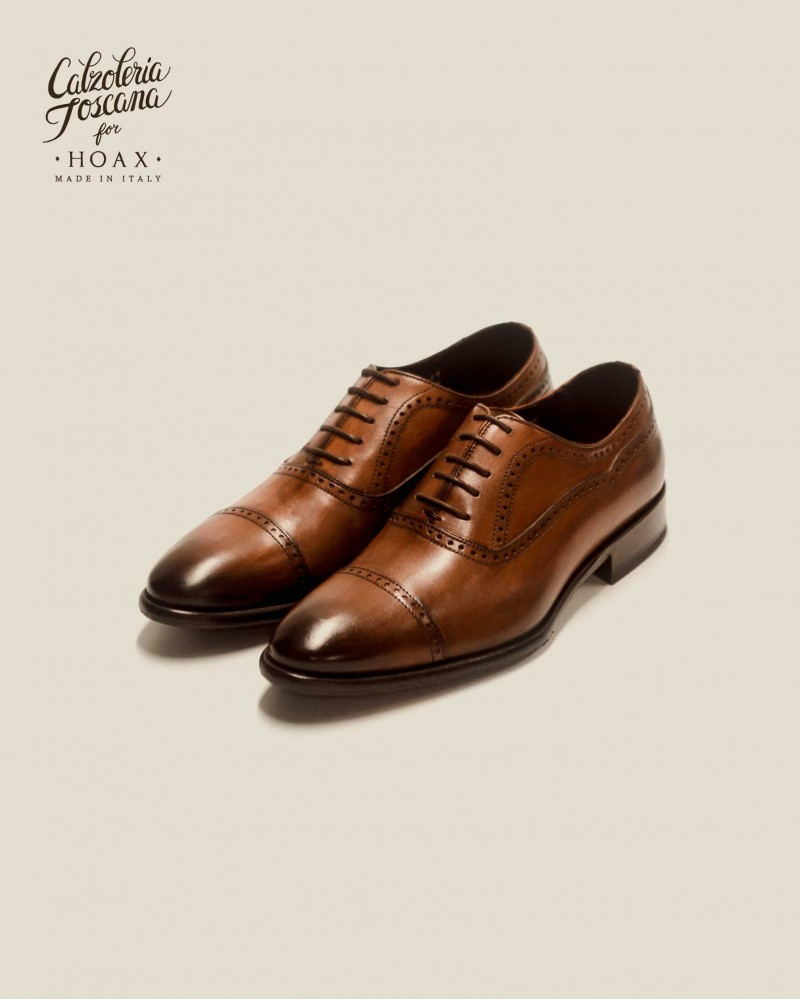 Calzoleria Toscana|2392 Patina Quarter Brogue・Wood