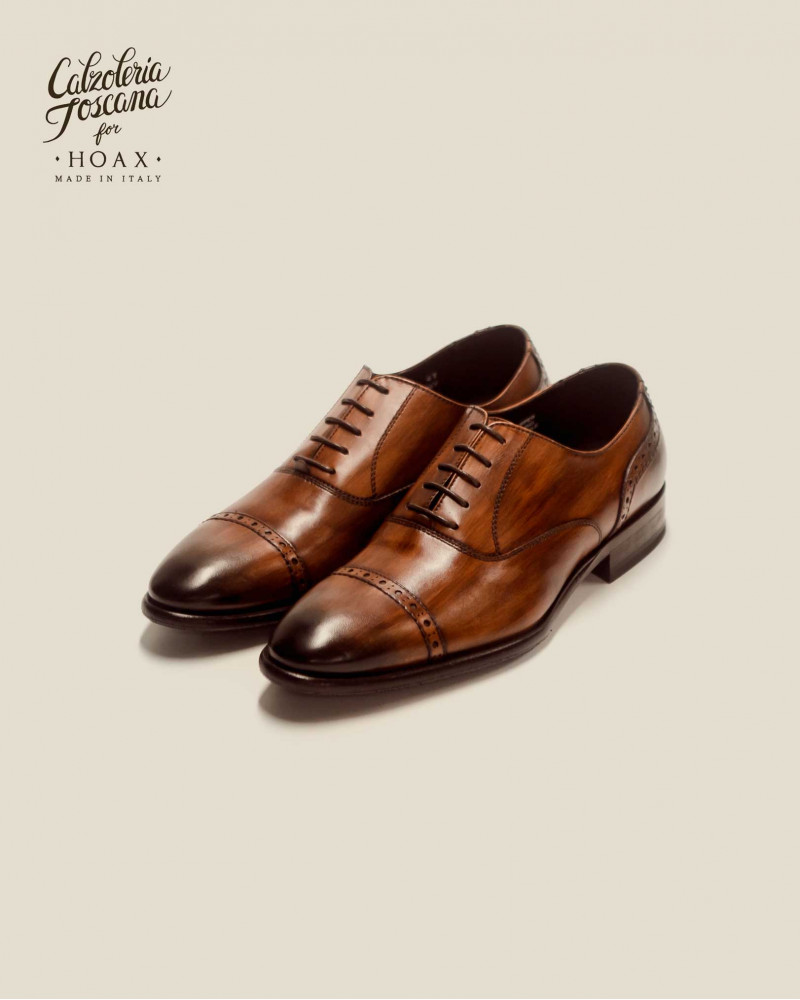 Calzoleria Toscana|3217 Patina Quarter Brogue・Wood