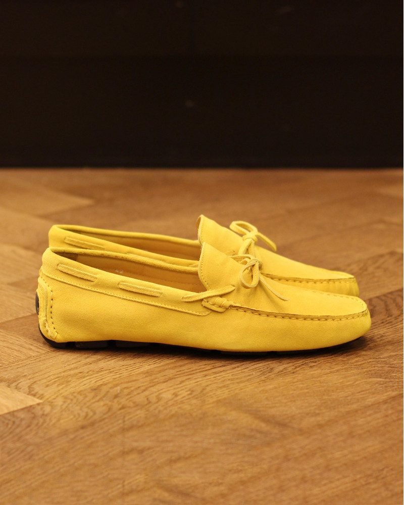 Calzoleria Toscana|3244 Suede Driving Shoes・Lemon