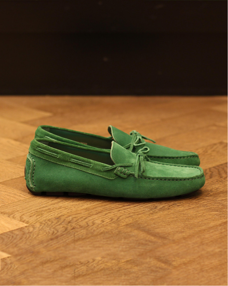 Calzoleria Toscana|3244 Suede Driving Shoes・Green